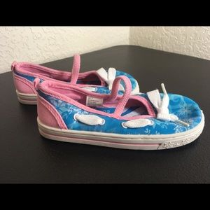 Disney Frozen Canvas Slip On Sneakers Size 10